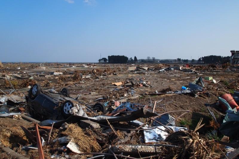 """""""After Tsunami at Haramachi, Minami-soma, Fukushima, Japan."""" Photo courtesy Flickr user Jun Teramoto."""