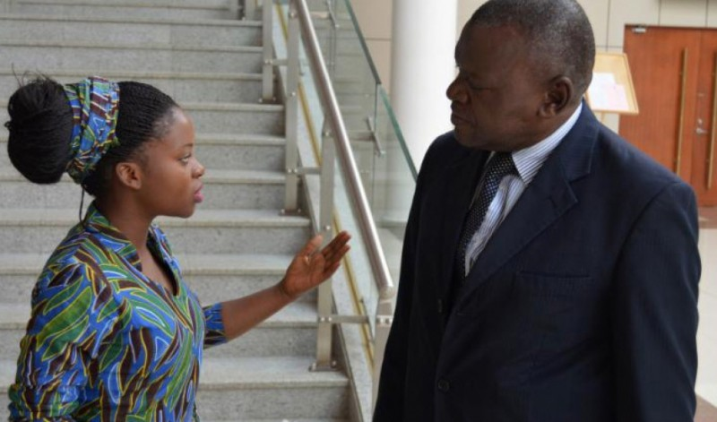 Memory Banda, 18, advocates for victims of child marriage with a member of the Malawian Parliament.  Credit: Let Girls Lead