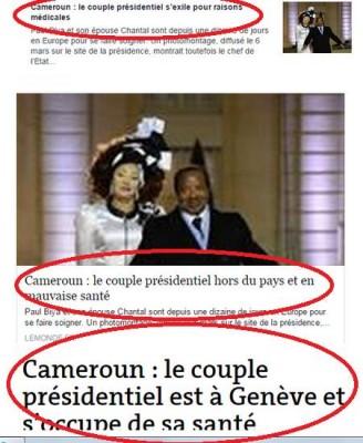 Captures d'écran par le blogueur camerounais Allain Jules - http://allainjules.com/2015/03/15/cameroun-france-journal-le-monde-contre-biya-cameroun-pays-dinsulteurs-et-de-faineants/