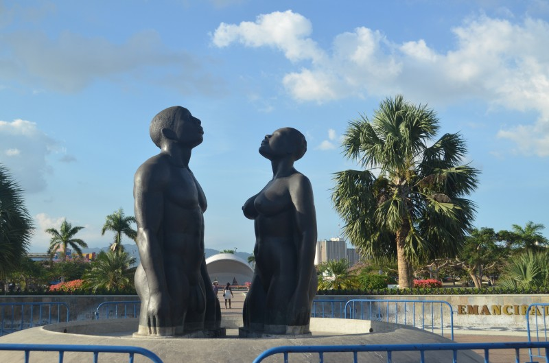 Emancipation Park in Kingston, Jamaica; photo by Kent MacElwee, used under a  CC BY-NC-ND 2.0 license.