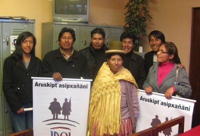 Members of the Jaqi Aru team. Photo courtesy of La Pública.