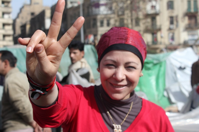 International women day in Egypt via Al Jazeera English and Wikimedia. Creative commons.