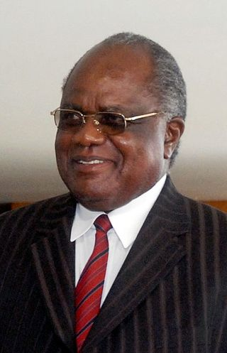 Namibia's outgoing president Hifikepunye Pohamba. Photo released under Creative Commons by Agência Brasil.
