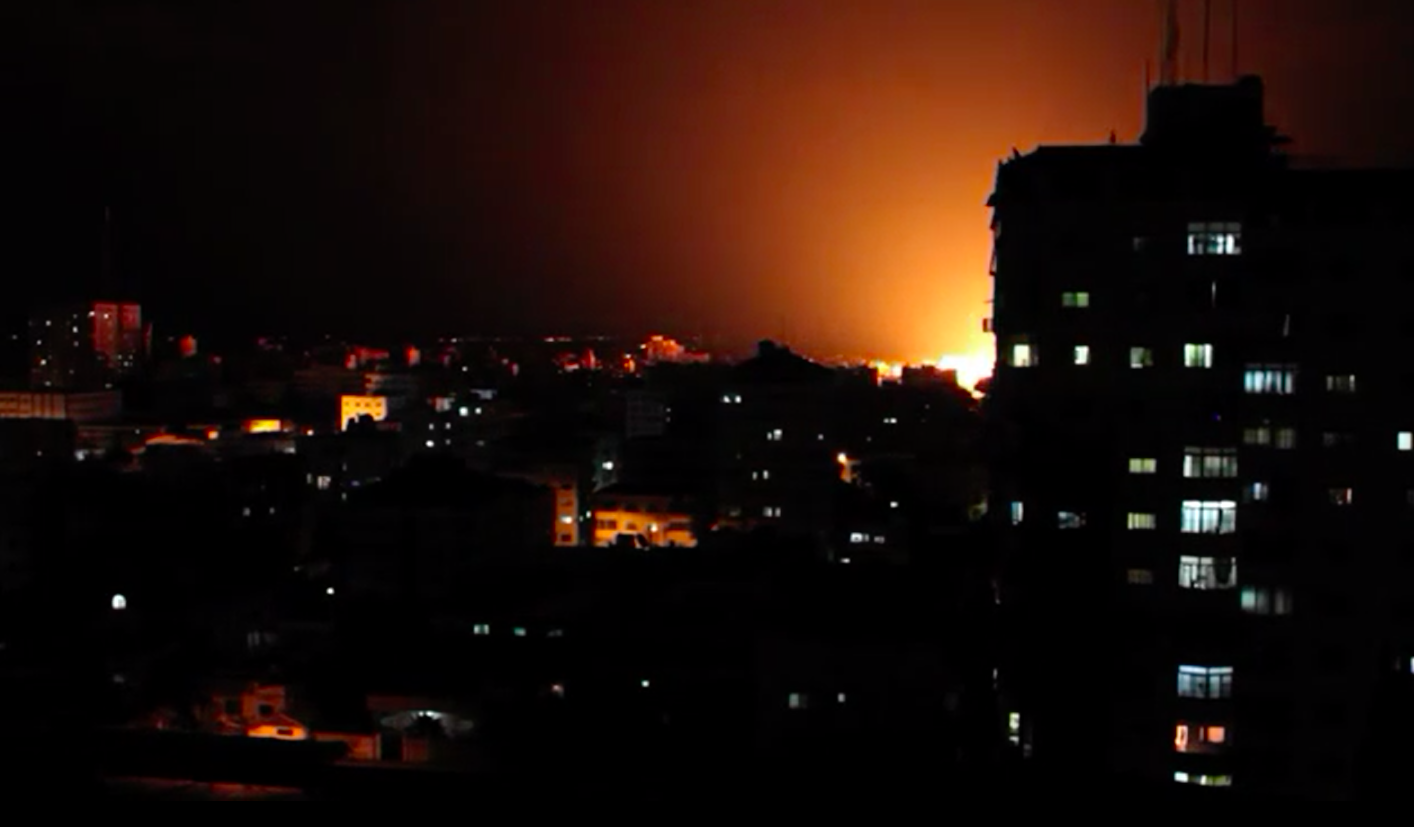 Screenshot from 'Discarding Gaza' of a video taken in Gaza on August 2014 by Samer's host, Jehad Saftawi