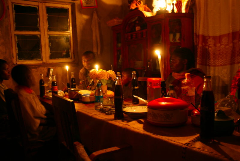 A birthday party by candlelight in Tanzania. Photo by Pernille Baerendsten, used with permission.