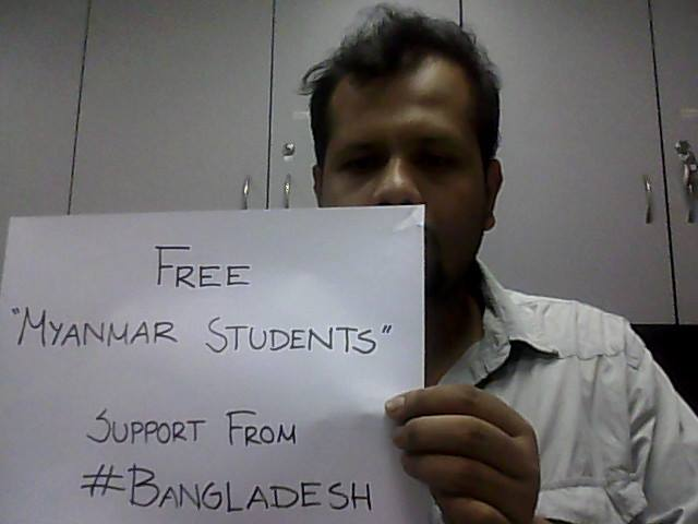 Support from Bangladesh. Facebook page of Anik Rahman