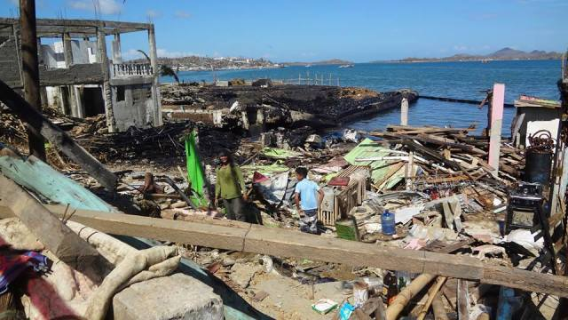 Haiyan destroyed coastal villages in Estancia. Photo from the Facebook page of Citizens' Disaster Response Center.