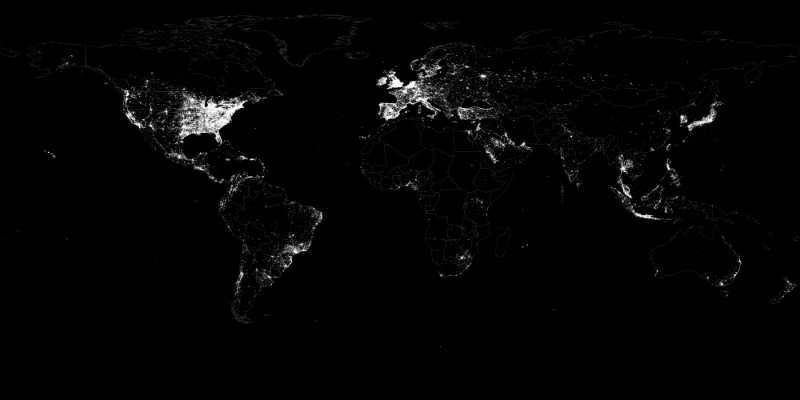 All Exact Location coordinates in the Twitter Decahose 23 October 2012 to 30 November 2012 (Leetaru et al., 2013).
