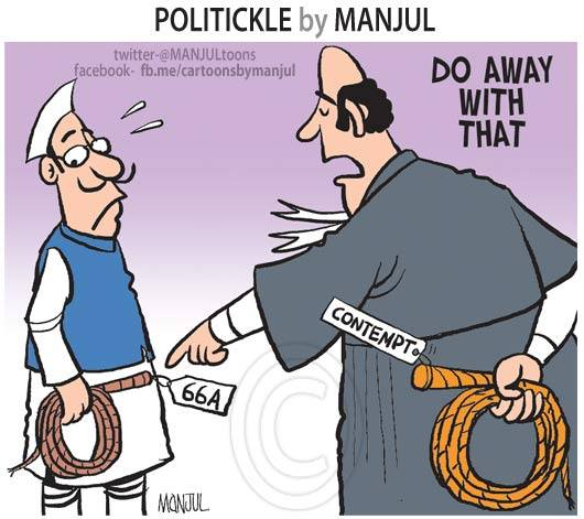 Cartoon by Manjul, shared widely on social media.