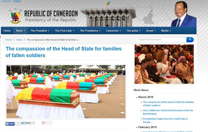 Screenshot of flag-drapped confins of dead soldiers which replaced the photoshopped picture after public outcry.