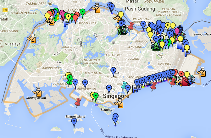 Clean up locations around Singapore