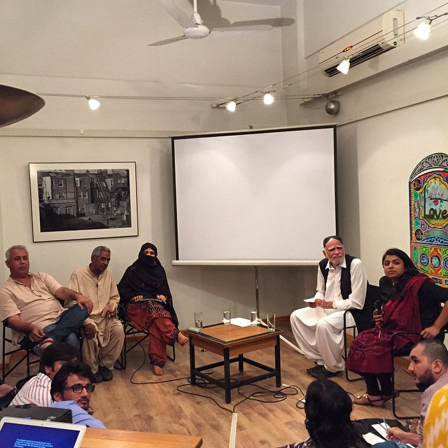 Photo instagrammed by Sabeen of the Balochistan event. She was killed less than an hour after this was posted.