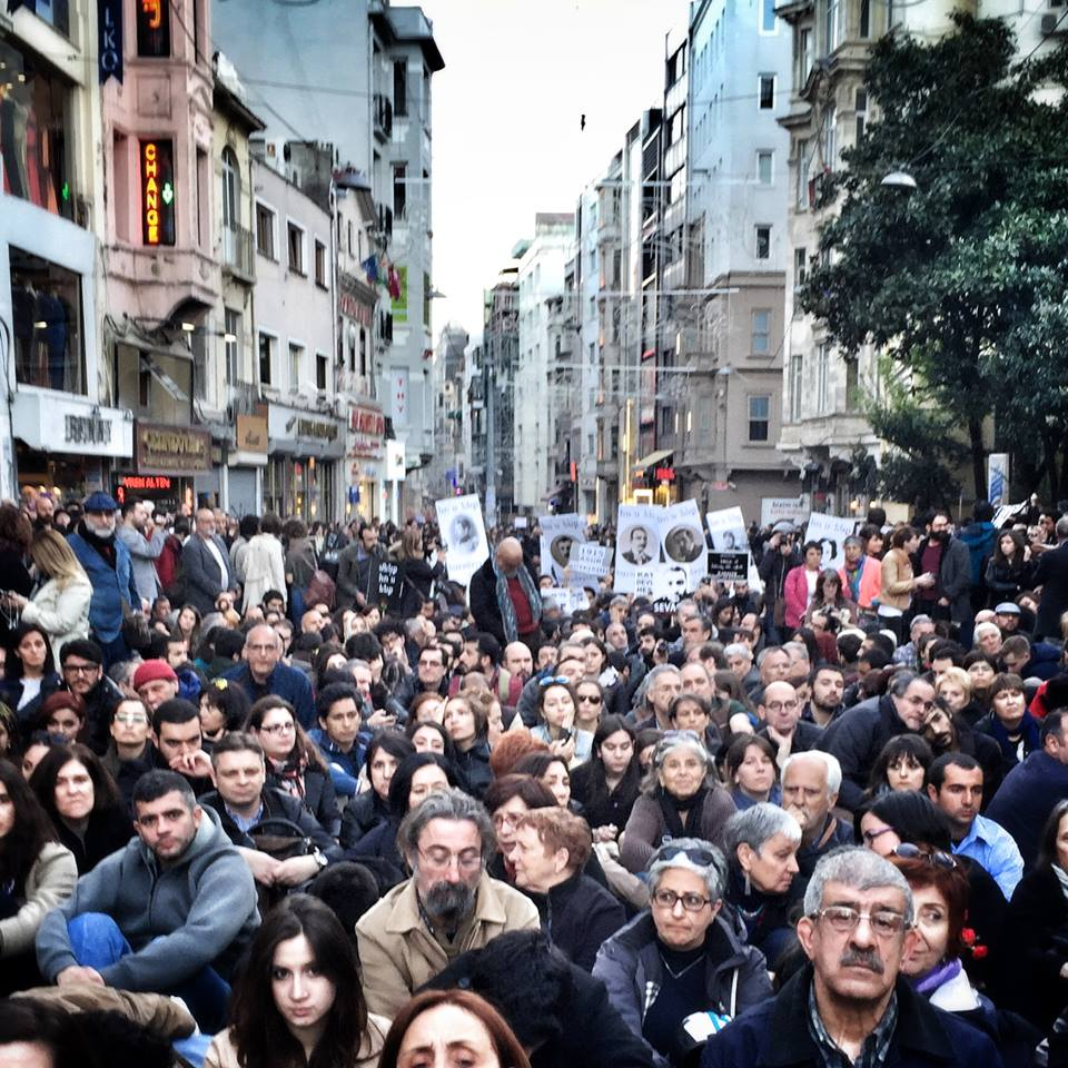 The march in Istanbul on April 24th. Photo shared by The Armenian Diaspora Project.