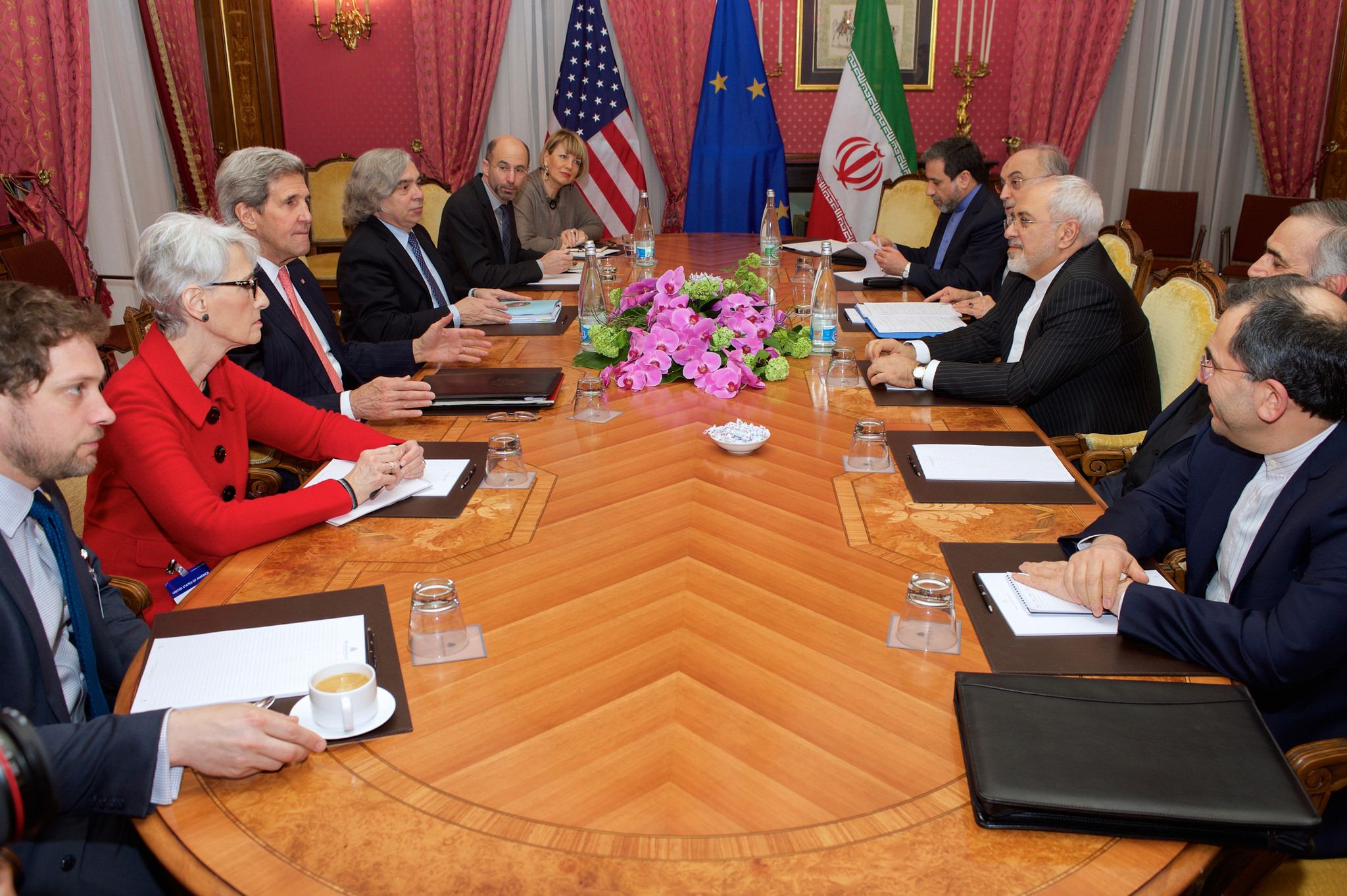 At the negotiating table in Lausanne, Switzerland. Photo from the US State Department