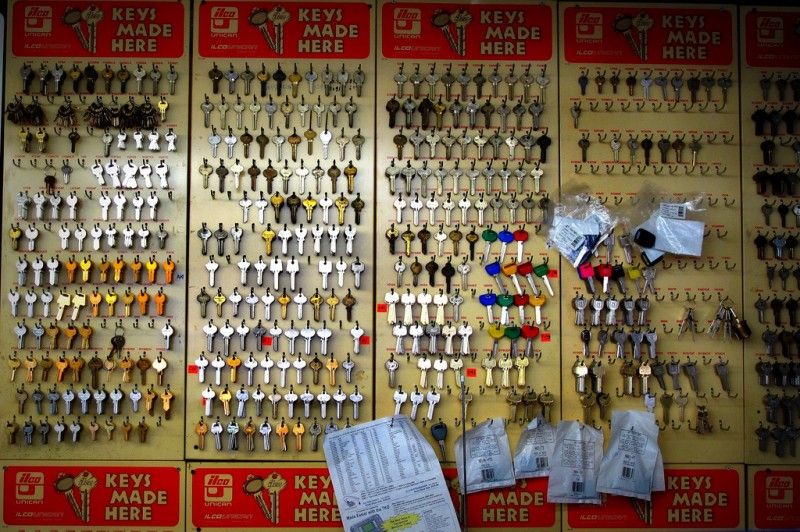 Wall of keys. Photo by Robert via Flickr (CC BY 2.0)