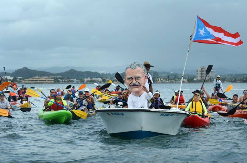 "Event ""Al mar por Oscar"" (To the sea for Oscar), 2014, Puerto Rico. Photo Ricardo Alcaraz, used with permission."