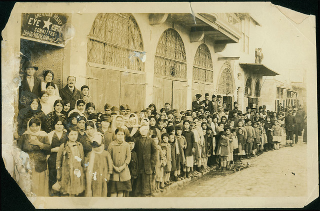 Aleppo January 1920: Armenian refugees at the American Relief eye hospital, photo by University of Michigan Expedition, George R. Swain, Ann Arbor, Michigan. Public domain.