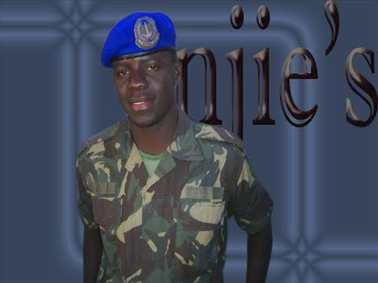Modou Njie,, one of the Gambian soldiers who were found guilty in a secret court.  He is sentenced to death. Photo used with permission from Kibaaro News.