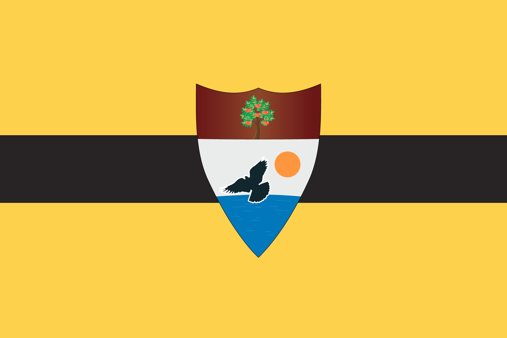 "The ""official"" flag of the Republic of Liberland. Design by Vít Jedlička, used under Creative Commons license."