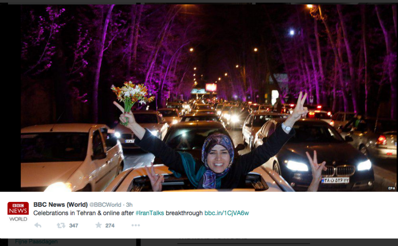 Let's just stop and appreciate the happiness from #IranTalks.