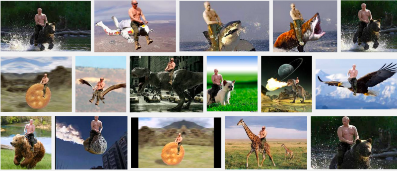 Vladimir Putin, as the Internet knows him.