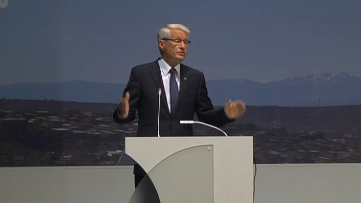 Torbon Jagland. Source: Screenshot of the live broadcast.