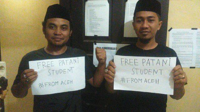 Support from Aceh, Indonesia. Photo from Facebook page of Hermanto Muhammad.