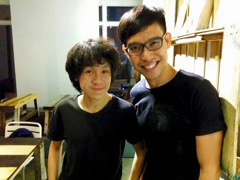Amos Yee and Roy, Singapore bloggers who are facing legal cases  today for expressing their views. Photo from Facebook page of Roy