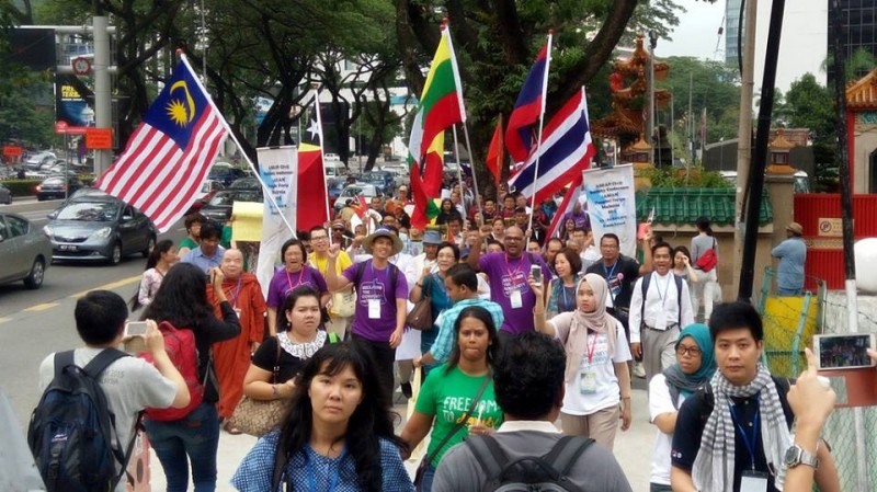 People's Walk. Photo from Facebook page of ASEAN Peoples' Forum