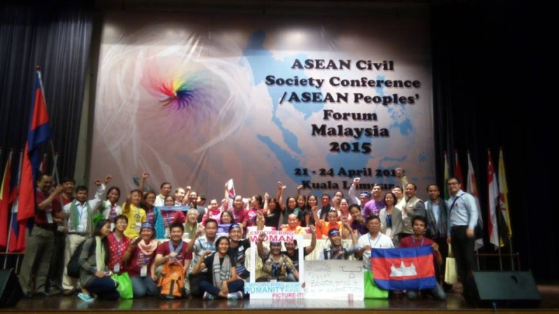Some of the delegates of the ASEAN Peoples' Forum