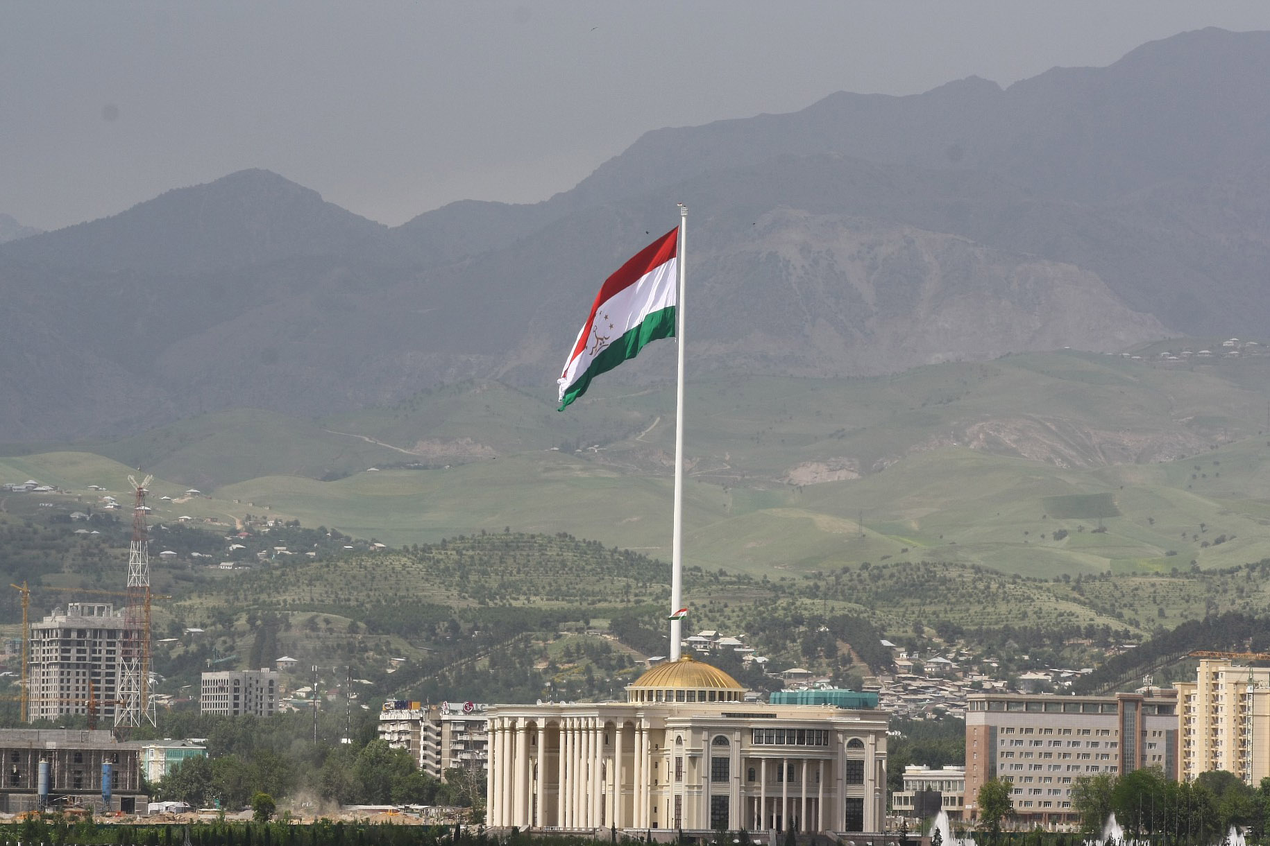 The second tallest flagpole in the world. Dushanbe. Photographer: Nozim Qalandarov
