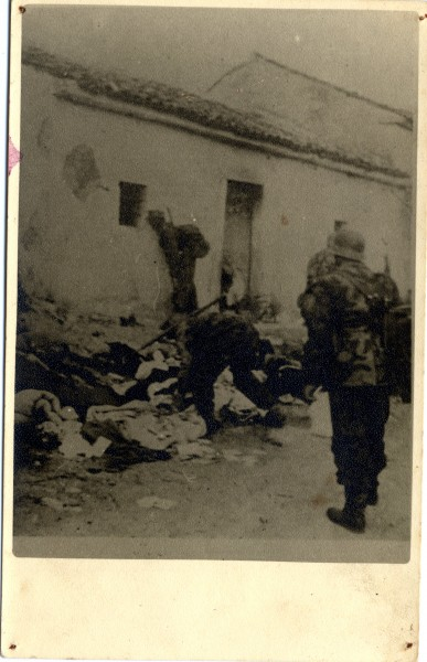 Nazis going trough victim's bundles, collecting valuables Original photographs, curtesy of Maritime and History Museum of the Croatian Littoral Rijeka
