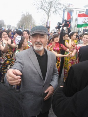 Bozor Sobir in Navruz celebrations in Khujand city of Tajikistan. March 2015. Picture from the poet's Facebook account