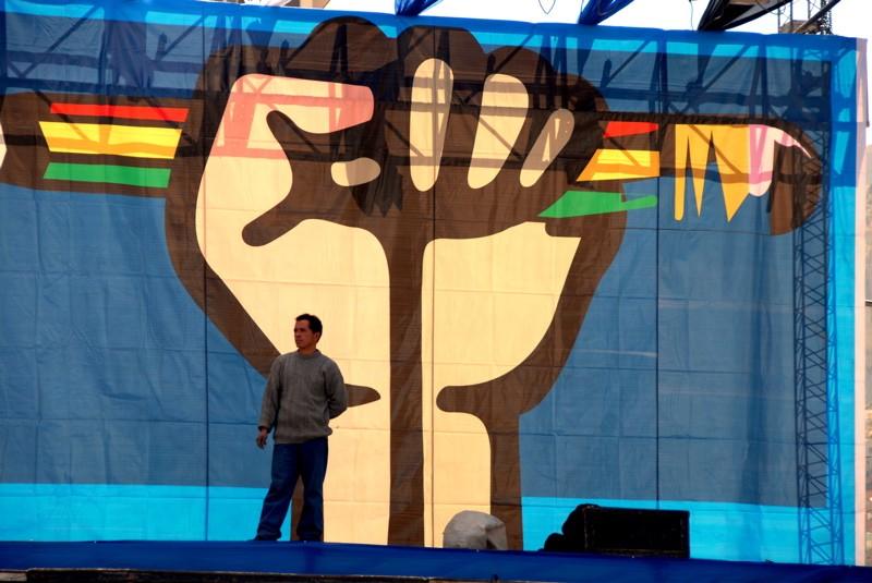Election Day in La Paz, Bolivia. June 28, 2006. Photo by Rocco Lucia. CC 2.0.