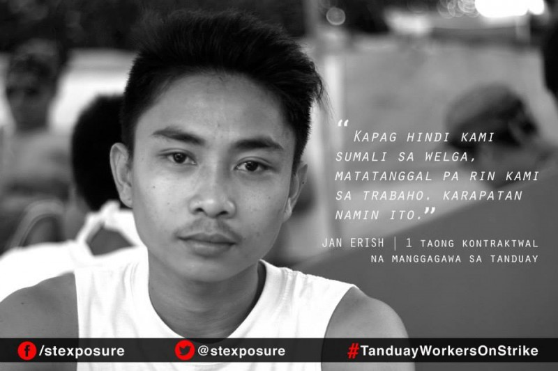 """Even if we don't join the strike, we will still be removed from work. This is our right."" - Jan Erish, 1-year contractual worker in Tanduay."
