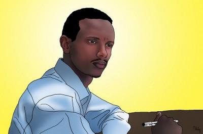 Digital drawing of Befeqadu Hailu by Melody Sundberg [Image used with permission]