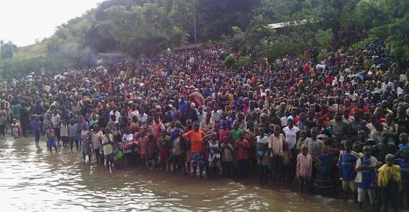 50000 refugees have fled Burundi ( here at the border with Tanzania)  photo via Jamii Forums