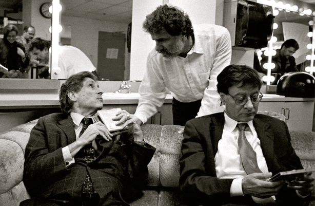 Edward Said (Left) seen with Marcel Khalife (Middle) and Mahmoud Darwish (Right)