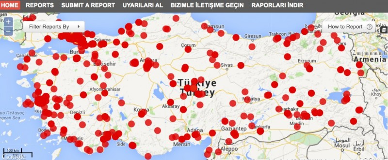 As of today, More than 3 thousand reports in the election news mapping project, #SeçimVar