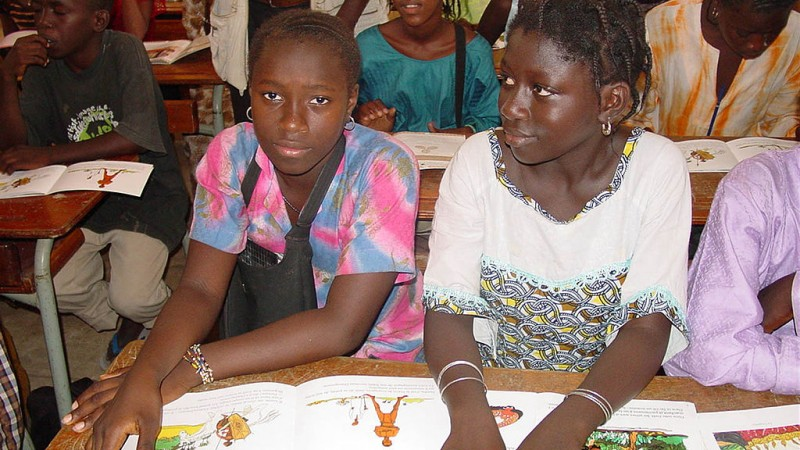 Students in Senegal. Public Domain