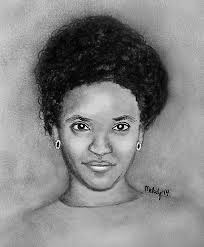 A  quick drawing of Mahlet Fantahun by Melody Sundberg