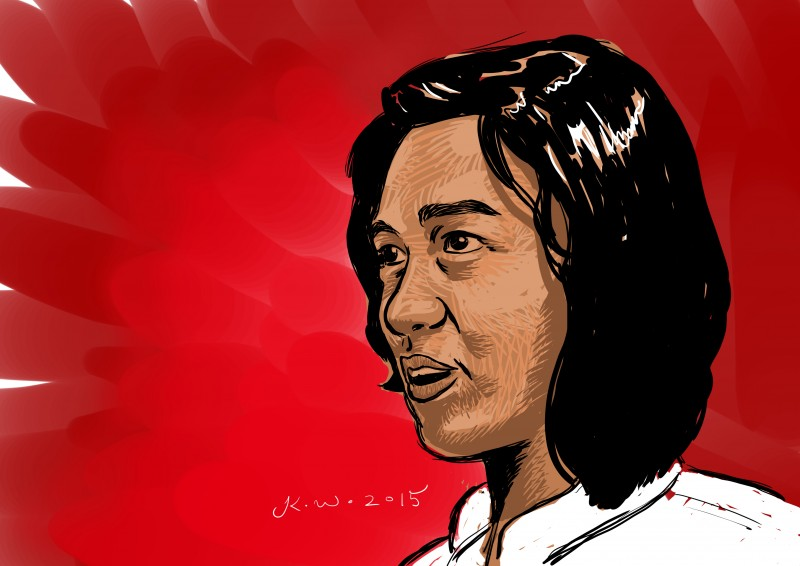 Min Thway Thit, student leader from All Burma Federation of Student Unions. Portrait by Kenneth Wong, republished with permission.