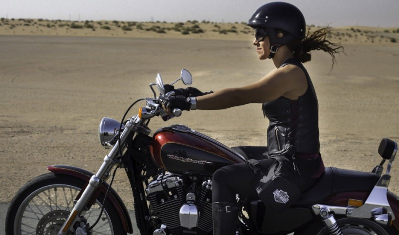 A female rider on International Female Ride Day in Dubai. Credit: Amanda Fisher. Published with PRI's permission
