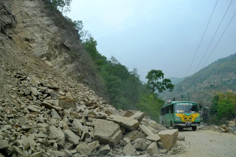 Landslide in Sindhupalchok.