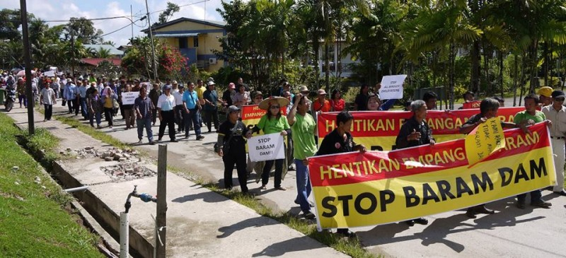 Rally against Baram Dam project. Photo from Sarawak Report