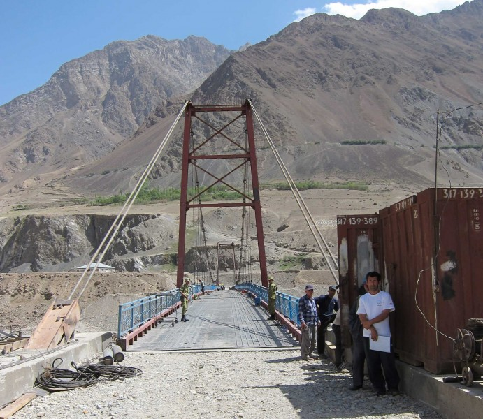 The Tajik-Afghan border. Photo courtesy of Caravanistan.