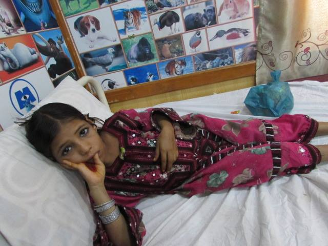 A Thalassemia patient in Gwadar Civil Hospital