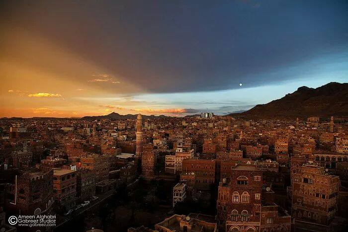 A captivating view of Old Sana'a by photographer Ameen Alghabri