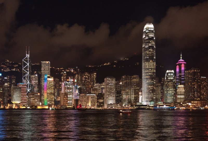 Hong Kong Skyline by Flickr Jens Schott Knudsen. CC: NC-AT