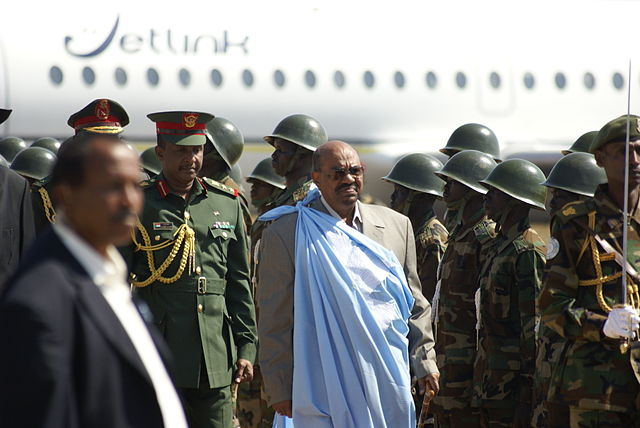 Sudanese President Omar al Bashir arriving in Juba, South Sudan in 2011. Photo released by Al Jazeera under Creative Commons (BY-SA 2.0)